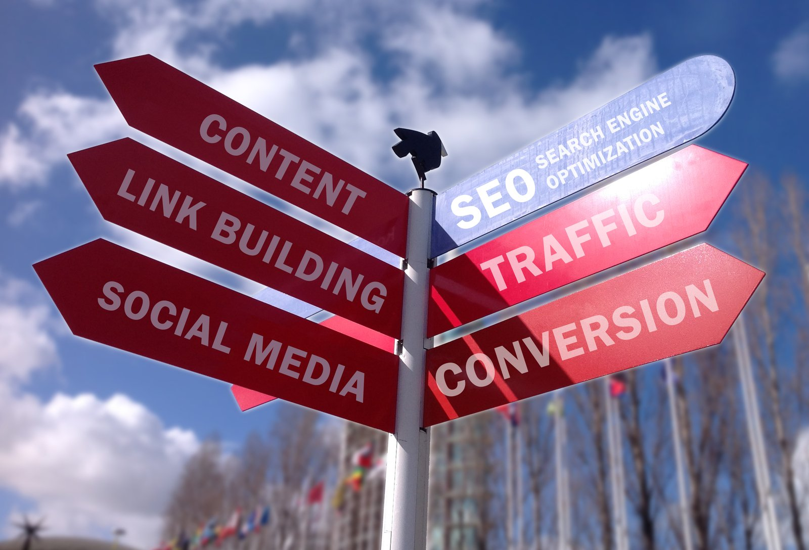 social media sign post artwork
