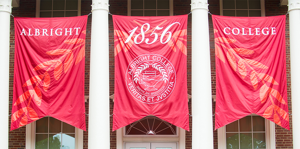 """college banners showing """"1856"""""""