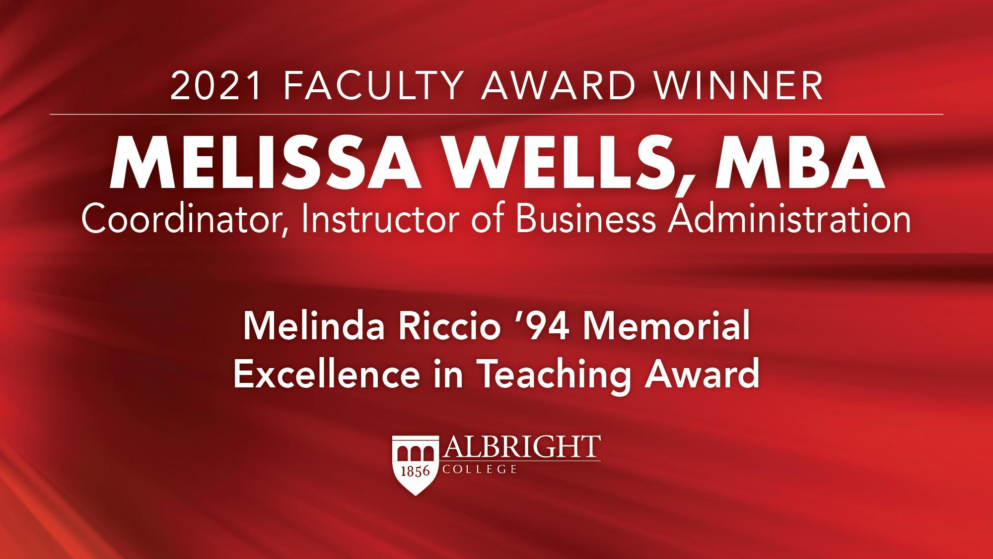 Melissa Wells, MBA