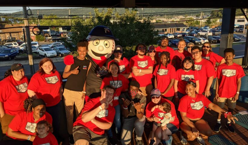 Summer Scholars attend a Reading Phils game